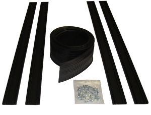 9′ U-Shape Door Seal Kit includes two 4.5′ pcs of track & screws