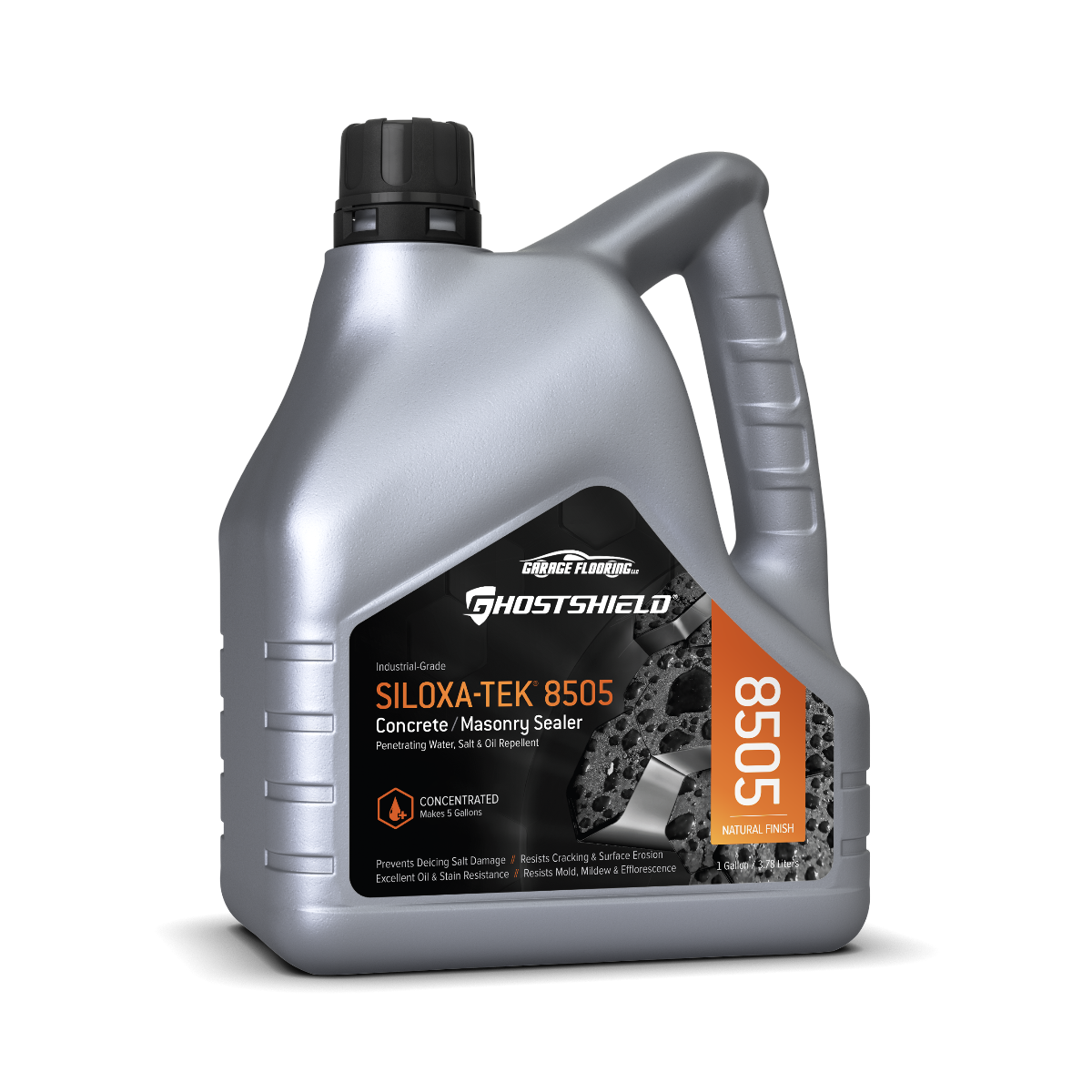 GhostShield Siloxa-Tek 8505 Ultra Concentrate Concrete Sealer / Oil & Water Repellent Makes 5 Gallons