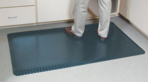 G-Floor Anti-Fatigue Mat 2X3 Metallic Silver