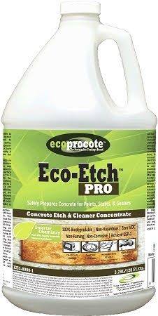 EE3-8000-1 Eco Etch Pro Etches 150 - 200 Sq. Ft. Per Gallon. No Returns. All Sales Final. Please read all instructions, PDS and SDS prior to Purchase.