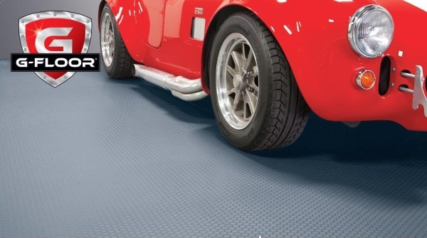 8′6″ × 22′ - 95 Mil Small Coin Garage Floor Mat