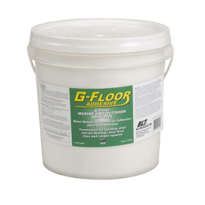 G-Floor Marine and Outdoor Adhesive. G-Floor to Plywood 4 Gallon Bucket Adhesive – Covers approx. 520 Sq. Ft.