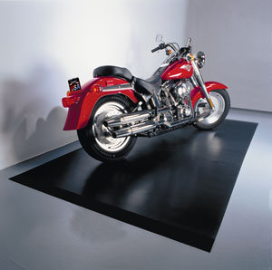 5x10 Motorcycle Mat. Midnight Black.. Heavy Duty  Grade.